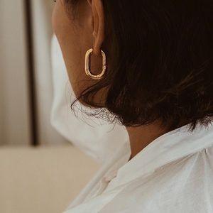14k Gold or Silver Huggie Hoop Minimalist Earrings